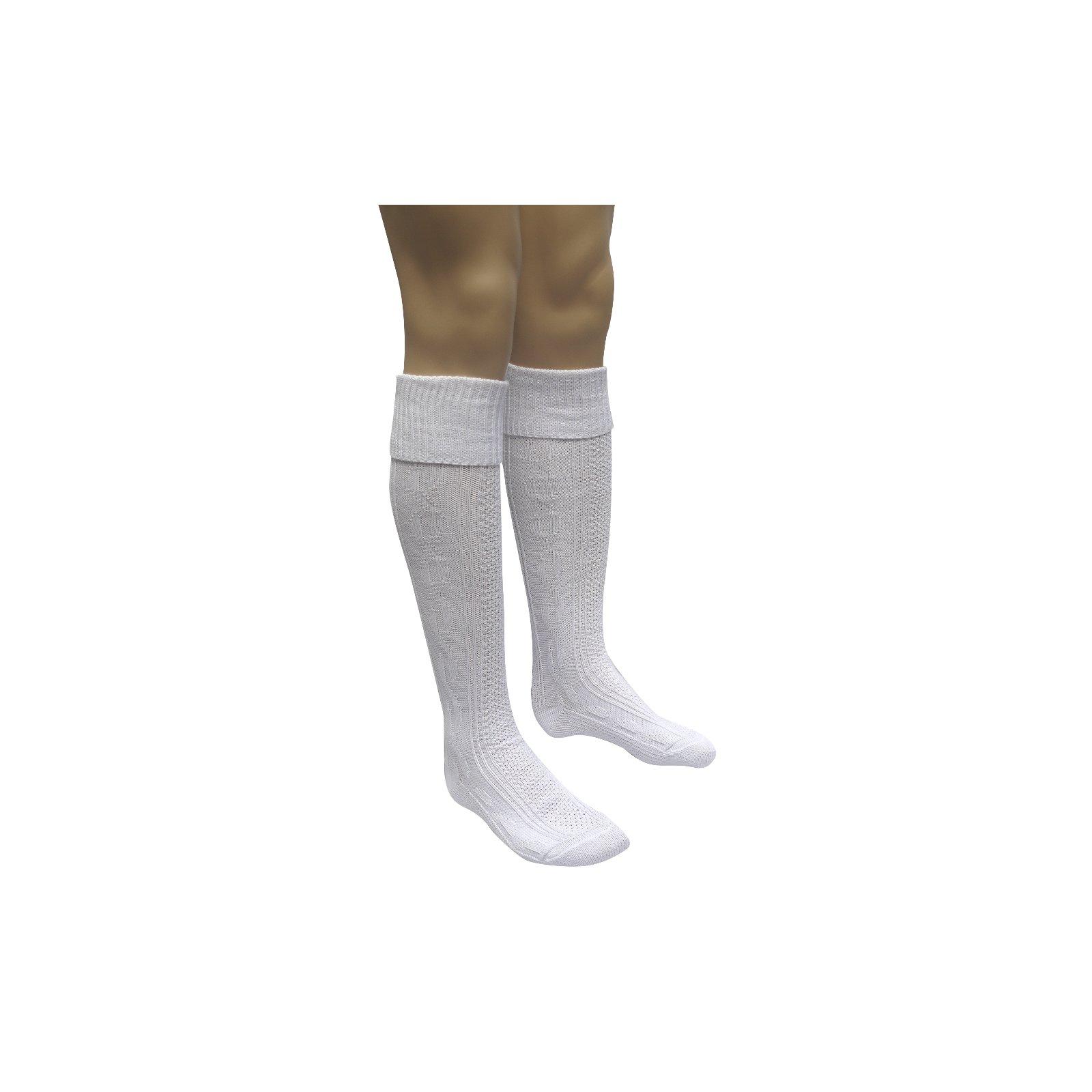 Trachtenstrümpfe Kniestrümpfe Wander-Strümpfe Kniebundhosen reinweiß 2 Paar