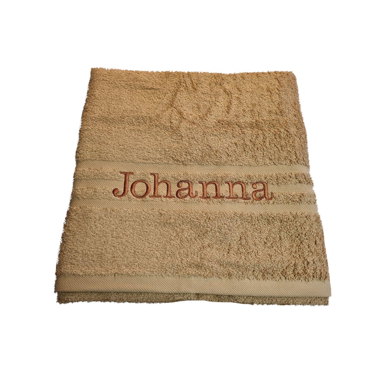 besticktes handtuch name