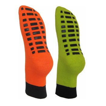 2 Paar ABS Socken 23-26 orange-lime