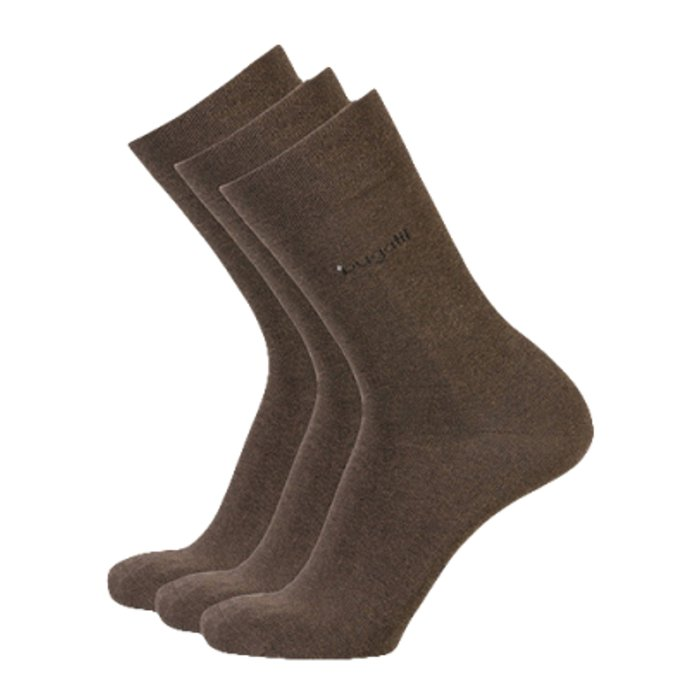 Business Socken Herren bugatti brown mel. 43-46 | 3Paar