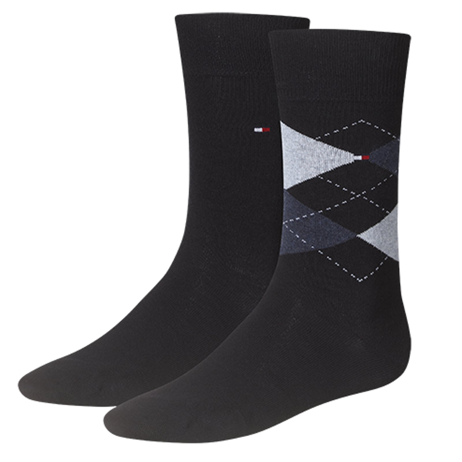 Tommy Hilfiger Socken - Check im 2er Pack dark navy 47-49