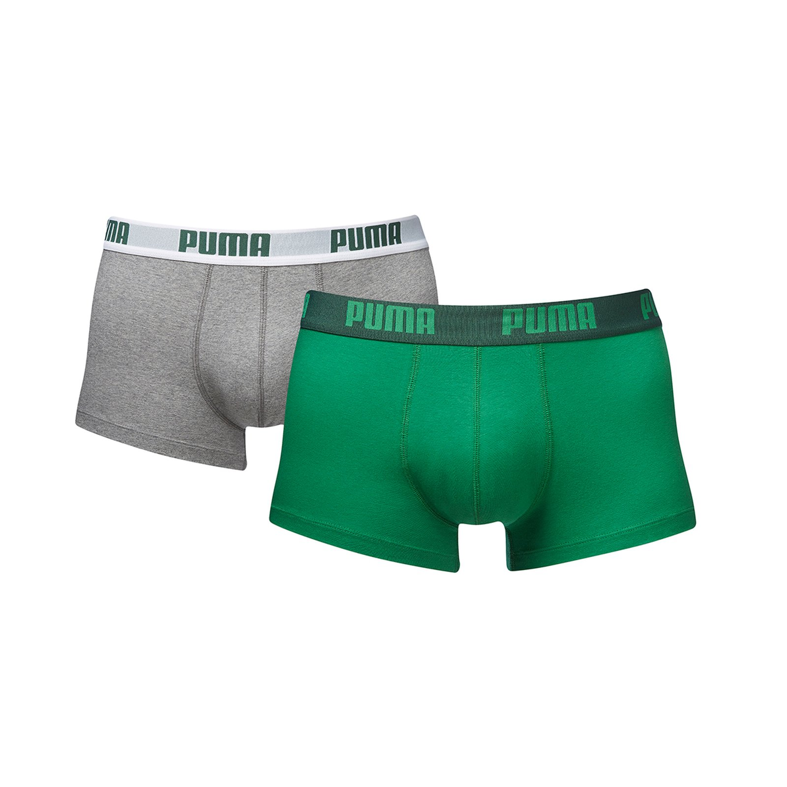 Puma Basic Shortboxer im Doppelpack L green grey