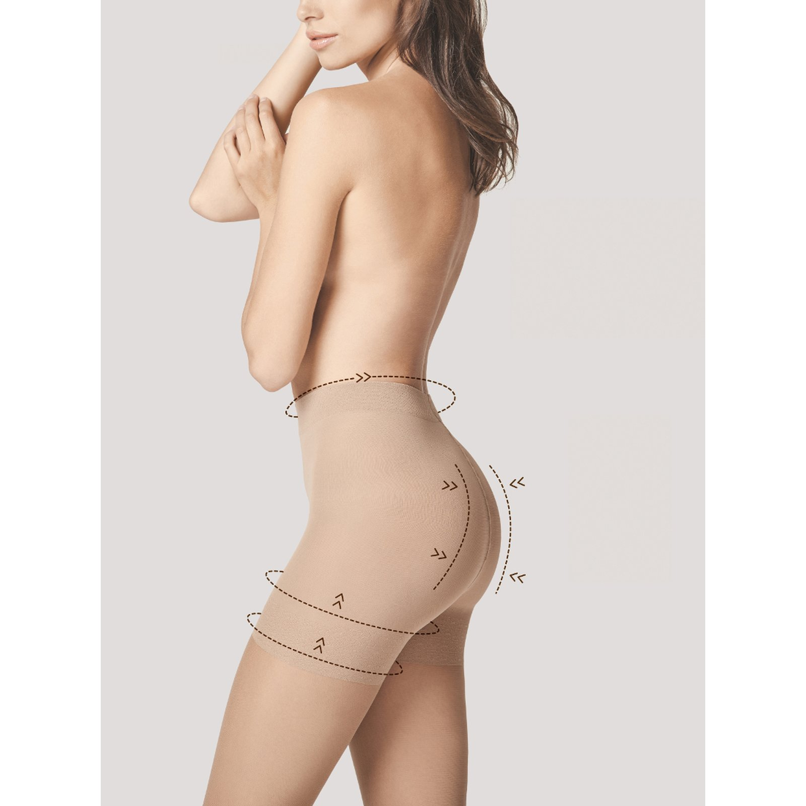 Fiore Total Slim Strumpfhosen 20den natural S - 2