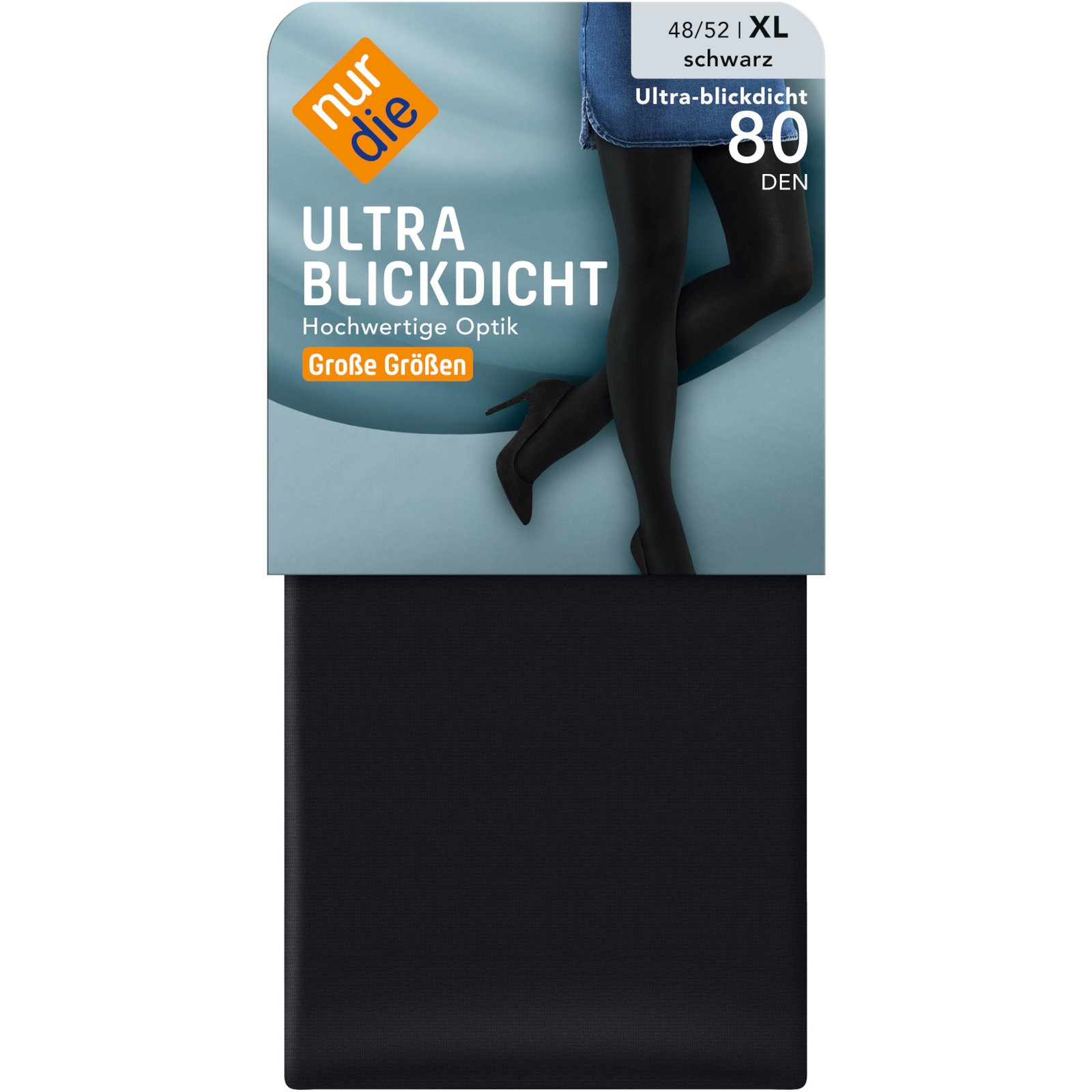 ultra blickdicht strumpfhose von nur die gr e 48 52. Black Bedroom Furniture Sets. Home Design Ideas