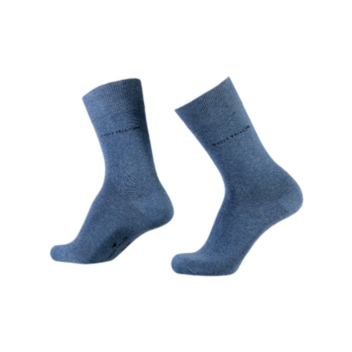 Tom Tailor Basic Socken für Damen jeans blue 35-38 | 3Paar