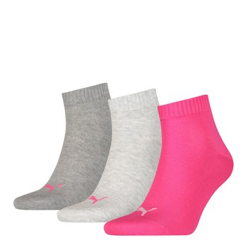 Quarter Socken Puma | 3Paar middle grey mel.-pink 39-42