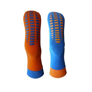 2er Pack ABS Socken 23-26 orange-royal