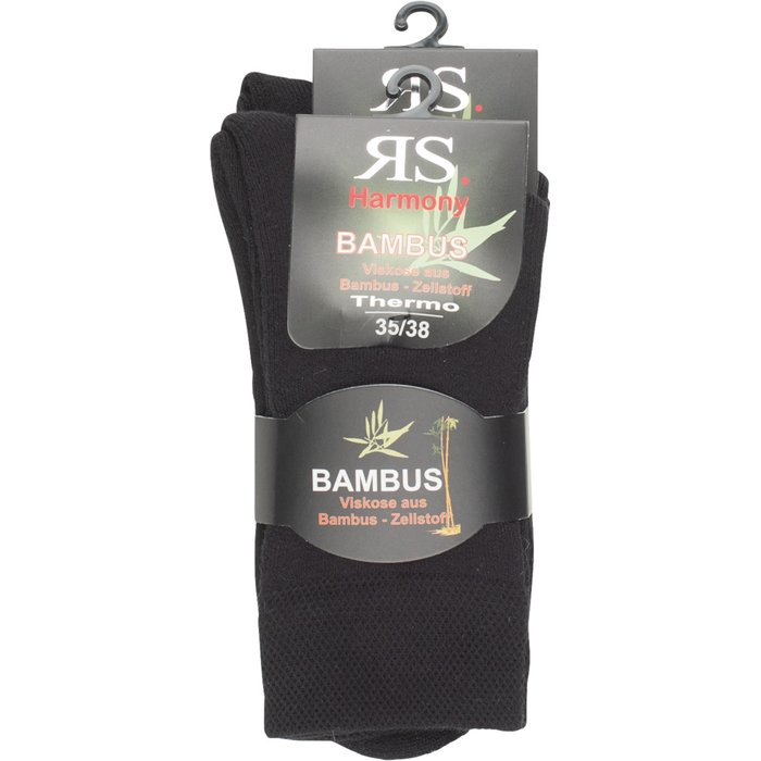 Thermosocken Bambus Extra warm | DP schwarz 43-46