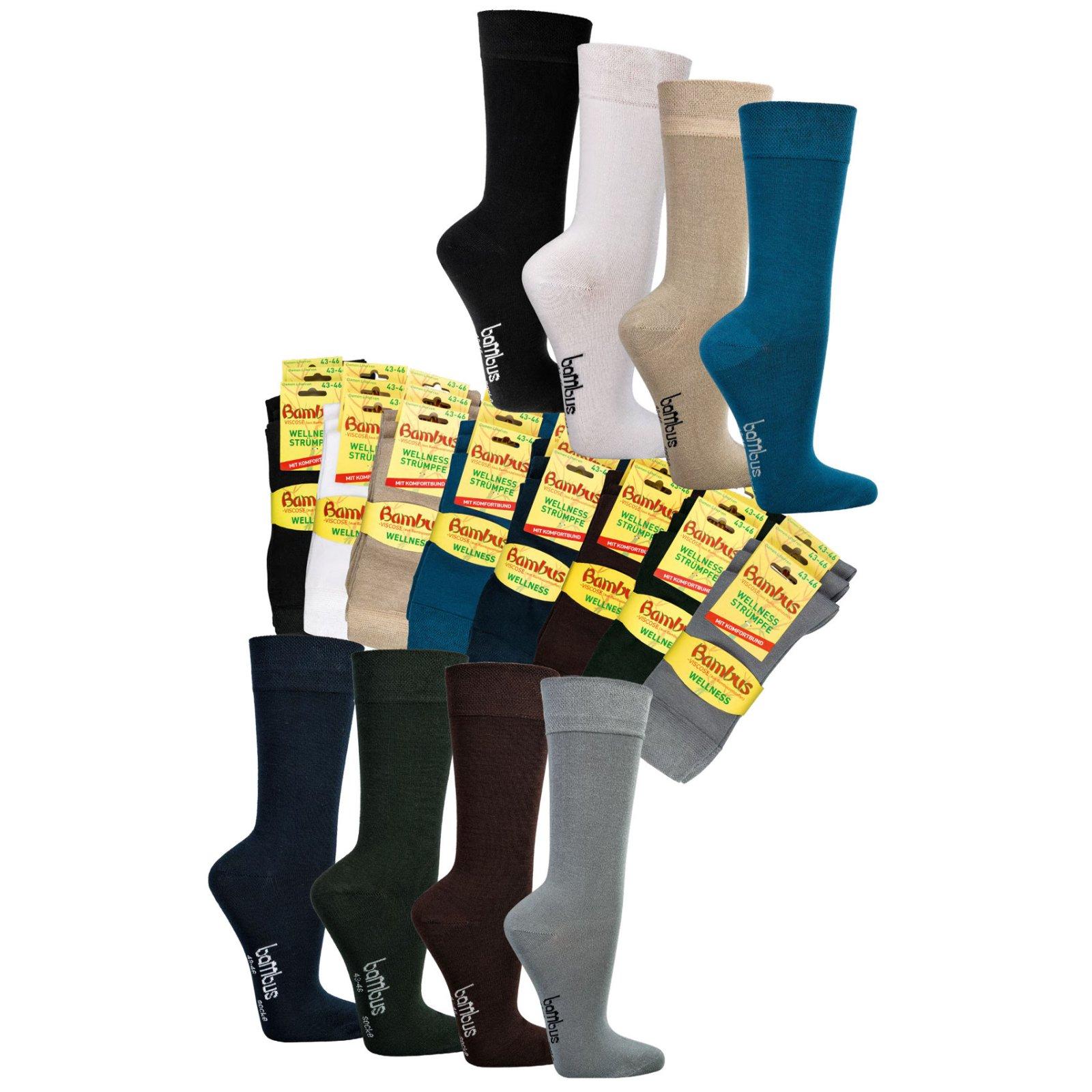3er Pack Socken Wowerat beige Übergröße 35-38 39-42 43-46 NEU